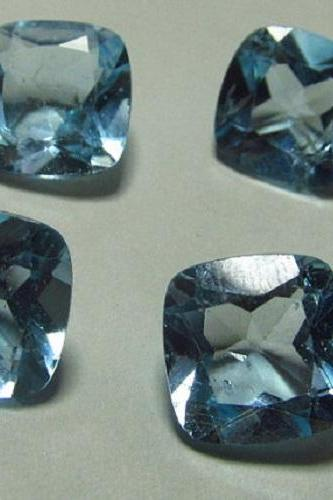 Natural Sky Blue Topaz 5mm 25 Pieces Lot Faceted Cut Cushion Blue Color - Natural Loose Gemstone