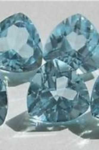 Natural Sky Blue Topaz 7mm 50 Pieces Lot Faceted Cut Trillion Blue Color - Natural Loose Gemstone