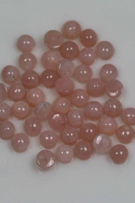 4mm Natural Pink Opal 5 Pieces Lot Cabochon Round Top Quality Pink Color Loose Gemstone Wholesale Lot For Sale