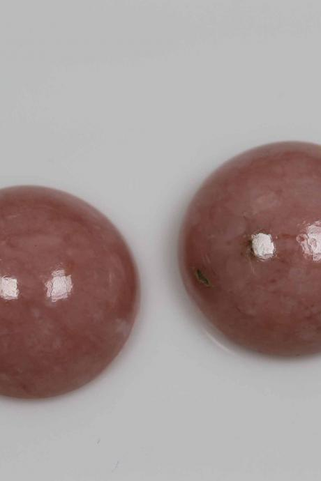 10mm Natural Pink Opal 5 Pieces Lot Cabochon Round Top Quality Pink Color Loose Gemstone Wholesale Lot For Sale