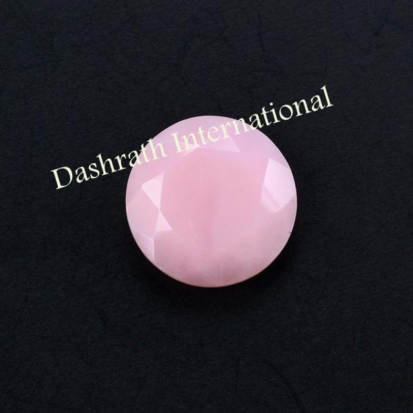 9mm Natural Pink Opal 2 Piece ( 1Pair) Faceted Cut Round Top Quality Pink Color Loose Gemstone Wholesale Lot For Sale