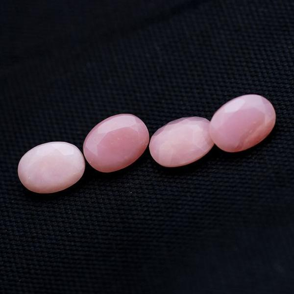 6x4mm Natural Pink Opal 5 Pieces Lot Faceted Cut Oval Top Quality Pink Color Loose Gemstone Wholesale Lot For Sale