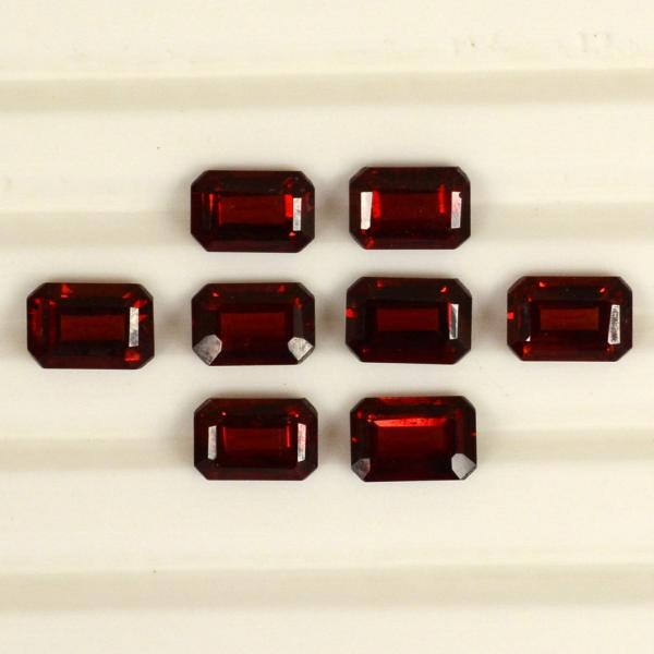 9x7mm Natural Red Garnet Faceted Cut Octagon 5 Pieces Lot Color ( AA) Red Garnet Top Quality Loose Gemstone