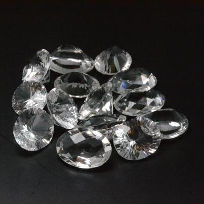 11x9mm Natural Crystal Quartz Faceted Cut Oval 2 Piece (1 Pair ) Calibrated Size Top Quality white Color Loose Gemstone