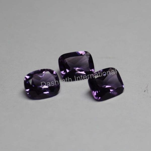 11x9mm Natural Amethyst Faceted Cut Long Cushion 10 Pieces Lot ( AA) Purple Color Top Quality Loose Gemstone