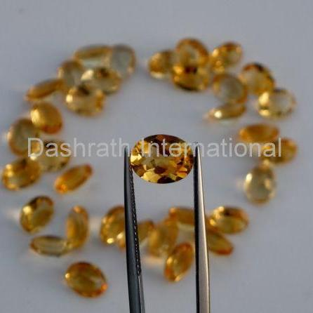 16x12mm Natural Citrine Faceted Cut Oval 2 Piece (1 Pair) Yellow Color (AA) Calibrated Size Top Quality Loose Gemstone