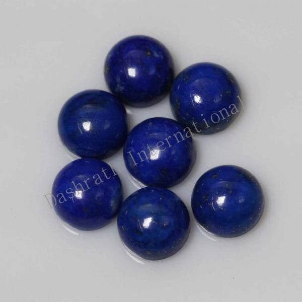 14mm Natural Lapis Lapuli Cabochon Round 50 Pieces Lot Blue Color Top Quality Loose Gemstone