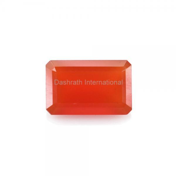 9x7mm Natural Carnelian Faceted Cut Octagon 2 Piece (1 Pair ) Calibrated Size Top Quality Orange Color Loose Gemstone