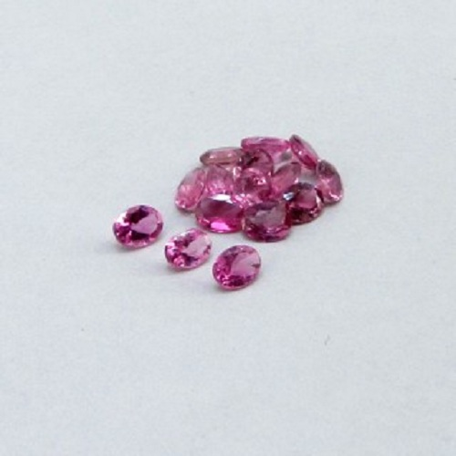 Natural Pink Tourmaline 4x5mm 100 Pieces Lot Faceted Cut Oval Pink Color Top Quality Loose Gemstone
