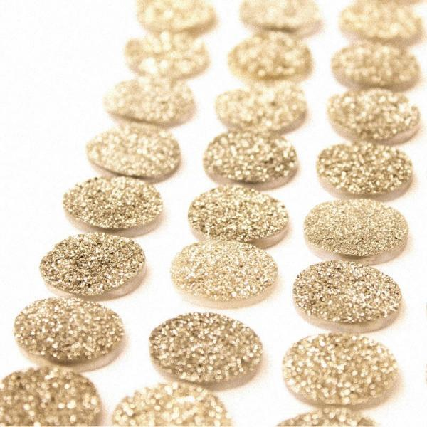 Natural 10x12mm 100 Pieces Gold Color Coating Flat Druzy Oval Best Top Gold Color Gemstone Lot
