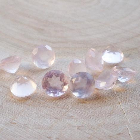 Natural Rose Quartz - 8mm 100 Pieces Lot Faceted Cut Round Pink Color - Natural Loose Gemstone