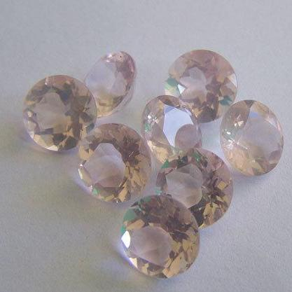Natural Rose Quartz - 9mm 2 Pieces Faceted Cut Round Pink Color - Natural Loose Gemstone