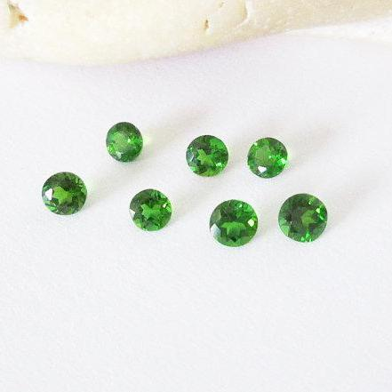 Natural Chrome Diopside- 2.5mm 25 Pieces Lot Faceted Round Calibrated Size Green Color - Loose Gemstone