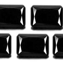 10x14mm Natural Black Spinel Faceted Cut Octagan 5 Pieces Lot Top Quality Black Color Loose Gemstone Wholesale Lot For Sale