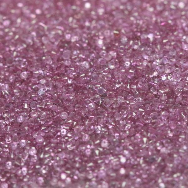 Natural Pink sapphire 1.3mm 25 Pieces Lot Faceted Cut Round Pink Color Top Quality Loose Gemstone